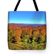 Fall Color On The Fulton Chain Of Lakes Tote Bag