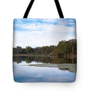 Fall Color On The Pond Tote Bag