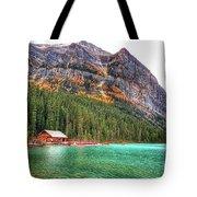 Fall Colors At Lake Louise Alberta  Tote Bag