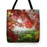 Fall Colors By The Moon Bridge Tote Bag