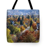Fall Colors In Spokane From The Post Street Hill Tote Bag