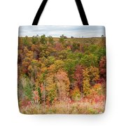 Fall Colors On Hillside Tote Bag