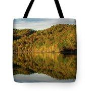 Fall Colors On Lake Reflection Tote Bag