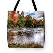 Fall Colors On The Moose River Tote Bag