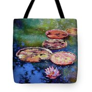 Fall Colors On The Pond Tote Bag