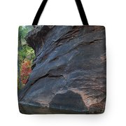 Fall Colors Peek Around Mountain Horizontal Number 1 Tote Bag