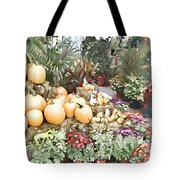 Fall Decorating At The Market Tote Bag