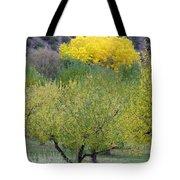 Bright Yellow Leaves, Dixon New Mexico Tote Bag