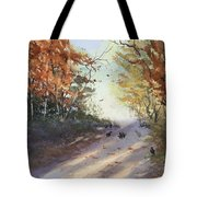Fall Early Morning Tote Bag