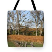 Fall Fence Tote Bag