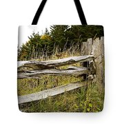 Fall Fencing Tote Bag