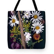 Fall Floral Collage Tote Bag