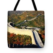 Fall Foliage At The Great Wall Tote Bag