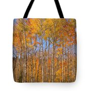 Fall Foliage Color Vertical Image Tote Bag