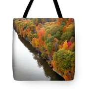 Fall Foliage In Hudson River 10 Tote Bag
