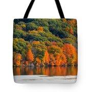 Fall Foliage In Hudson River 14 Tote Bag