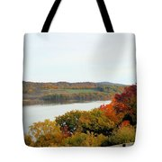 Fall Foliage In Hudson River 5 Tote Bag