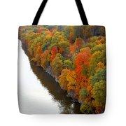 Fall Foliage In Hudson River 6 Tote Bag