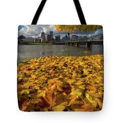 Fall Foliage In Portland Oregon City Tote Bag