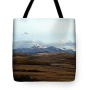 Fall Hills Rolling Towards The Mountains Tote Bag