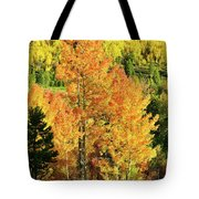 Fall Hillsides Above Dillon Reservoir Tote Bag