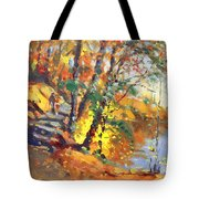 Fall In Bear Mountain Tote Bag