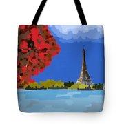 Fall In Paris Tote Bag