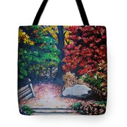 Fall In Quebec Canada Tote Bag by Karin  Dawn Kelshall- Best