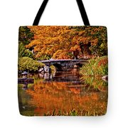 Fall In The Japanese Gardens Tote Bag