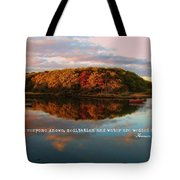 Fall In Wellfleet Quote Tote Bag