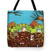 Fall Kitties Tote Bag