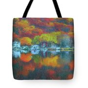 Fall Lake Tote Bag by Harry Warrick