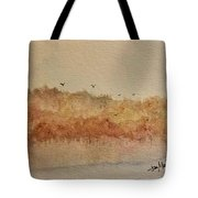 Fall Lake Tote Bag