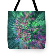 Fall Leaf Zoom Abstract Tote Bag
