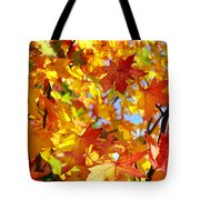 Fall Leaves Background Tote Bag