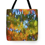 Fall Leaves On River 12 Tote Bag