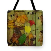 Fall Leaves On The Deck Tote Bag