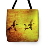 Fall Migration . Northern Shovelers . Texture . 40d5393 Tote Bag