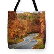 Fall Mountain Road Tote Bag