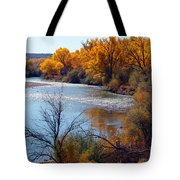 Fall On Animas River Tote Bag