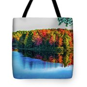 Fall On The Lake In Wisconsin Tote Bag
