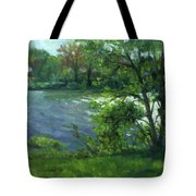 Fall On The Maumee River Tote Bag