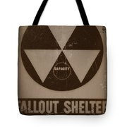Fall Out Shelter Tote Bag