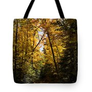 Fall Path In Golden Yellow Tote Bag