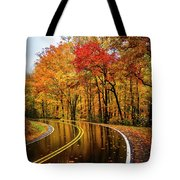 Fall Rain Tote Bag