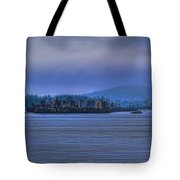 Fall Rainstorm Over Lake Wausau Tote Bag