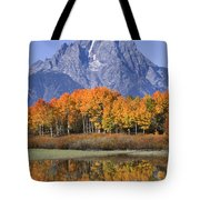 Fall Reflection At Oxbow Bend Tote Bag