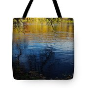 Fall Reflection At The River 2 Tote Bag