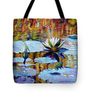 Fall Ripples Tote Bag