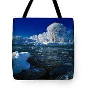 Fall River Winter Tote Bag
